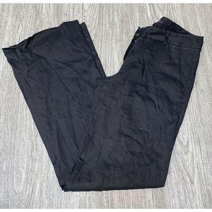 Theory Emery Black Wide Leg Dress Pants Career